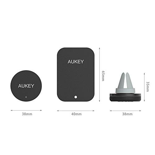 AUKEY Handyhalterung Auto Magnet Lüftung KFZ Halterung Universal für iPhone 7 / 6s / 6 / 5s / 5, Samsung S8 und jedes andere Smartphone oder GPS-Gerät