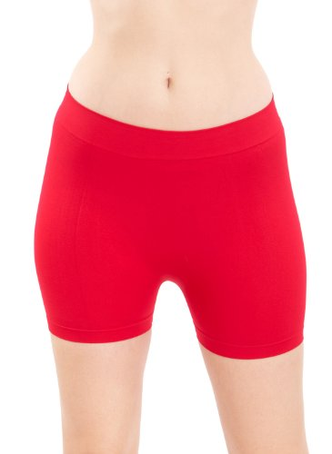 Seamless Red Hot Shorts Hot Pants