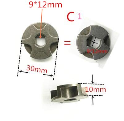 Maslin Gear Sprocket 221526-1 for MAKITA UC4041A UC3041A UC3541A UC4020A UC3520A UC250D UC250 UC3020A UC3020A - (Color: C1 1PCS)