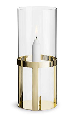 Sagaform Gold and Glass Hold Lantern Windlicht, Glas, Mehrfarbig, One Size