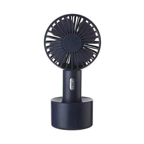 Simple Estilo Ventilador de Mano, Ventilador pequeño al Aire Libre Conveniente, Base Recargable, Ventilador de Mesa pequeña, 10 x 7,6 x 19.9cm, b,Mano (Color : C)