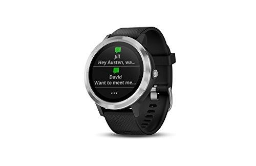 Garmin Vivoactive 3 GPS Smartwatch with Built-in Sports Apps – Black/Silver (Renewed)