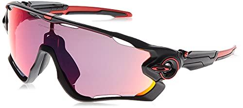 OAKLEY 0OO9290 Gafas de sol para Unisex, Negro Mate/Rojo, 0