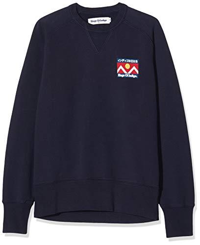 Kings of Indigo Herren Parnell Sweatshirt, Blau (Navy Mountain 8118), Large (Herstellergröße:L)