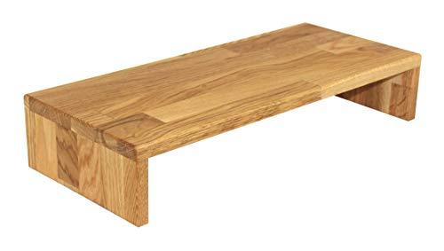 Tischaufsatz, massives Holz: Eiche geölt, Bildschirmerhöher, TFT-Ständer, Tischablage, Monitorständer, Massivholz