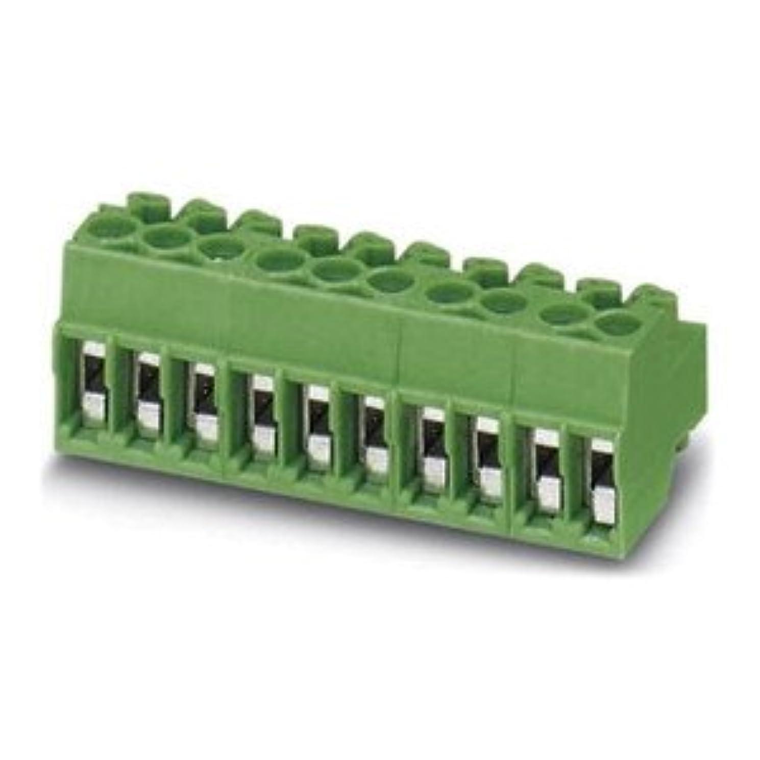 浮くパテ知覚するPhoenix Contact 基板用端子台 3.5mmピッチ 14極 緑 1984280