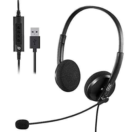 BigPassport Pro-Tech 134 Wired Over the Ear Headphone with Mic (Black)