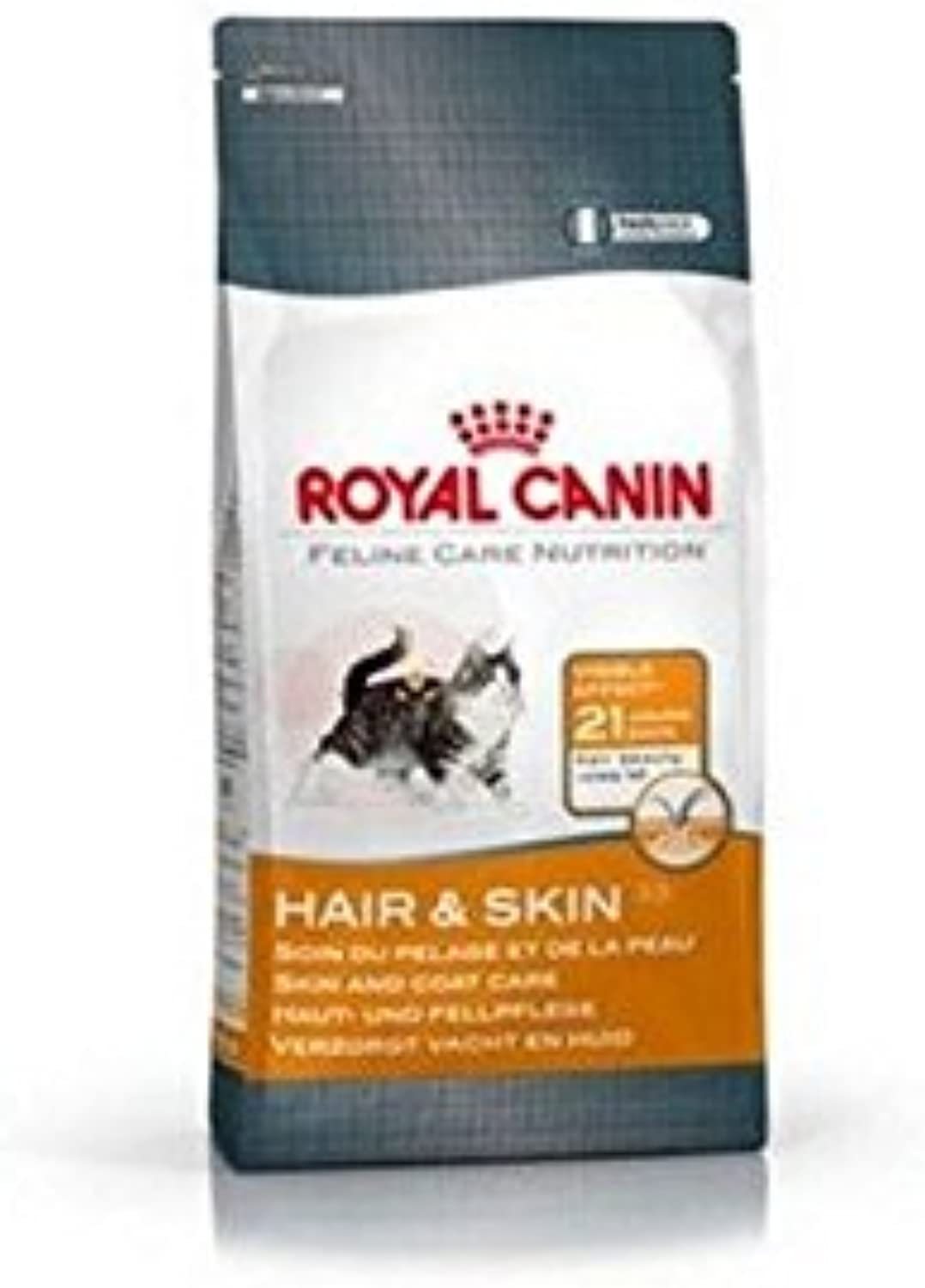 Royal Canin Cat Hair and Skin 33 (2kg) (Pack of 4)