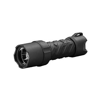 Coast Polysteel 400 440 Lumen Pure Beam Focusing LED Flashlight with Twist Focus and Stainless Steel Core Black