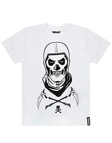 Fortnite cráneo Trooper Niños Camiseta Blanca de Battle Royale de los niños