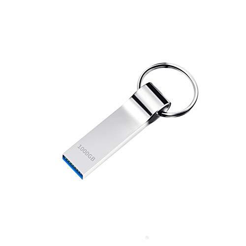 Dorypal 1To Clé USB Memory Stick Pendrive Imperméable Haute Vitesse USB Flash Drive Cle Flash Drive avec Porte-CléS (1000gb)