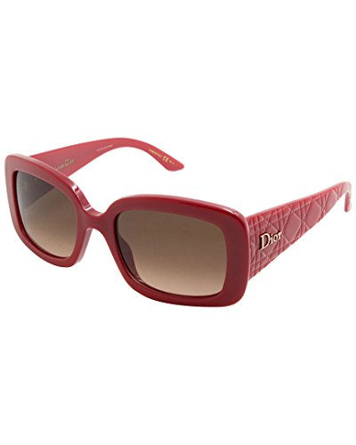 Dior Women's DIORLADYLADY2 D8 EIF 53 Sunglasses, Red (Red/Brown Ds)