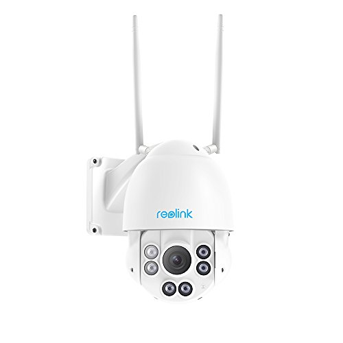 Reolink 5MP Wireless Security IP Camera - PTZ Dome Camera   4X Optical Zoom   360° Pan&90° Tilt   2.4/5Ghz Dual Band WiFi   190ft Night Vision   32GB Micro SD Card, RLC-423WS