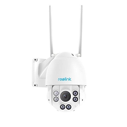 Reolink PTZ IP Überwachungskamera 5MP Super HD 2560x1920 2,4/5 GHz Dualband-WLAN Pan Tilt Schnelles 4X Optisher Zoom Outdoor Indoor mit integrierter 32GB Micro SD-Karte RLC-423WS