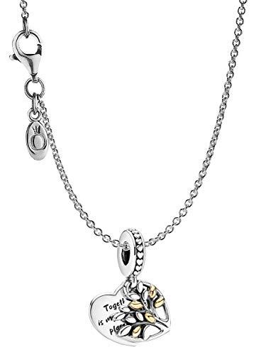 Pandora Damen-Halskette Familienbaum Silber eleganter Halsschmuck, wunderschönes Geschenk-Set für modische Frauen, 39658