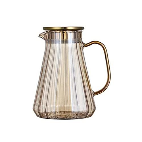 QinWenYan Bollitore Freddo Glass Water Pot Water Acqua Fredda Maniglia per Bottiglia d'Acqua Acqua Bollitore Trasparente Resistente al Calore Succo Teiera Pitcher Acqua Brocca per la Cucina