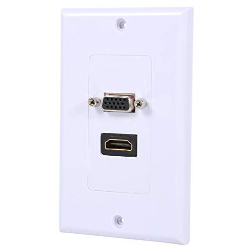 Socobeta Enchufe AV Face Connector Plate para Home Travel Office for