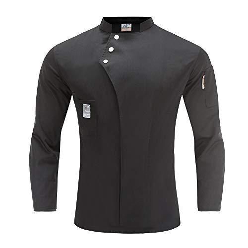 WMOFC Unisex Herren Damen Kochjacke Chef Jacket Uniform Küche Hotel Kochkleidung Uniform Berufsbekleidung Mit Knöpfen,M