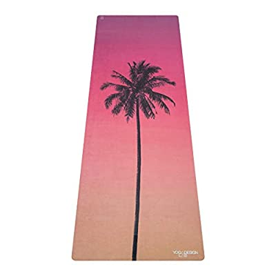 YOGA DESIGN LAB | The Combo Yoga MAT | 2-in-1 Mat+Towel | Eco Luxury | Ideal for Hot Yoga, Power, Bikram, Ashtanga, Sweat | Studio Quality | Includes Carrying Strap! (Venice, 70 x 24)