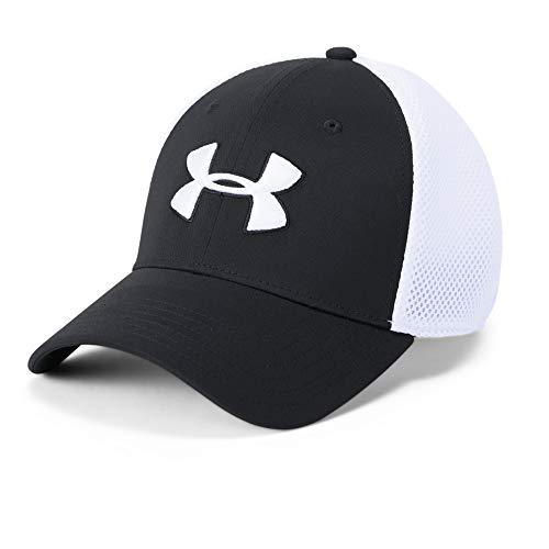 Under Armour Rival Fleece Big Logo HD, sportlicher Kapuzenpullover mit loser Passform, bequemes und warmes Sweatshirt für Männer Herren, Black / Onyx White, L