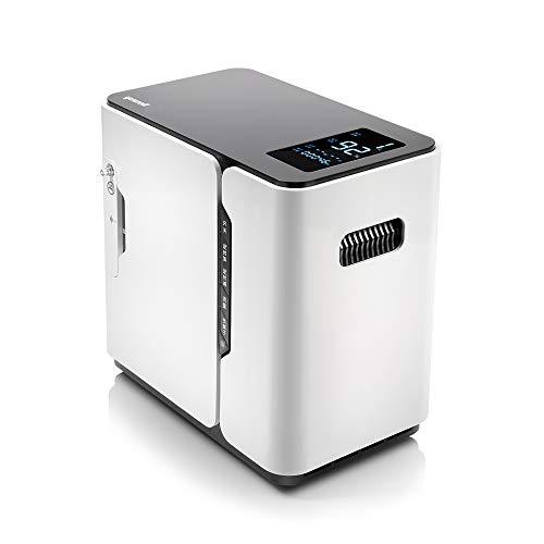 yuwell concentratore di ossigeno, domestico Macchina per Ossigeno, Generatore Di Ossigeno 90% 1-5L/min con funzione di temporizzazione, 24 ore di lavoro continuo 220V