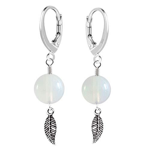 Pendientes Brisur de plata de ley 925 con colgante de flash, amuleto de la suerte para mujeres y niñas