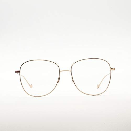 Caroline Abram Paris - Occhiali da vista a goccia in metallo bicolore per donna - VLADYA NERO|ORO ROSA - 56/16/138mm, Oro rosa
