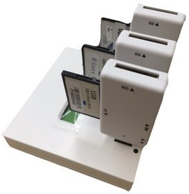 EZD122 All-in-One CompactFlash, Secure Digital, MicroSD, USB 1:2 Flash Memory Copier