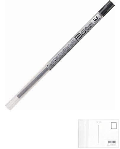 三菱鉛筆 スタイルフィット ホルダー専用 ゲルインクボールペン リフィル(ユニボール シグノ) ボール径0.5mm UMR-109-05.24 ブラック 1本入 20セット + 画材屋ドットコム ポストカードA