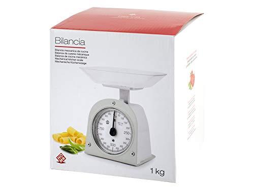 Home Balance de cuisine mécanique, blanc, plastique, 1 kg