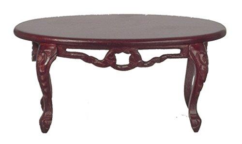 Casa De Muñecas Oval Mesa de café de caoba victoriano mobiliario de Sala