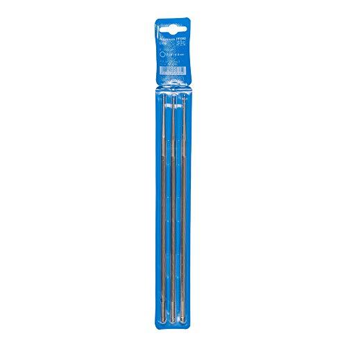 PFERD Kettensägefeilen, 3 Stück, rund, 200mm x 4,8mm, Spiralhieb, Premium Line, in Kunststofftasche, 18600760 – für das manuelle Schärfen von Sägeketten