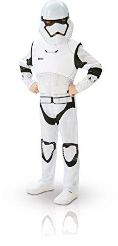 Rubie's 3620268 - EP7 Stormtrooper deluxe child, L - 7/8 Jahre, weiß/schwarz