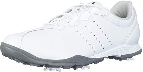 adidas Women's W Adipure DC Golf Shoe, FTWR White/Silver met./Silver met, 10 Medium US
