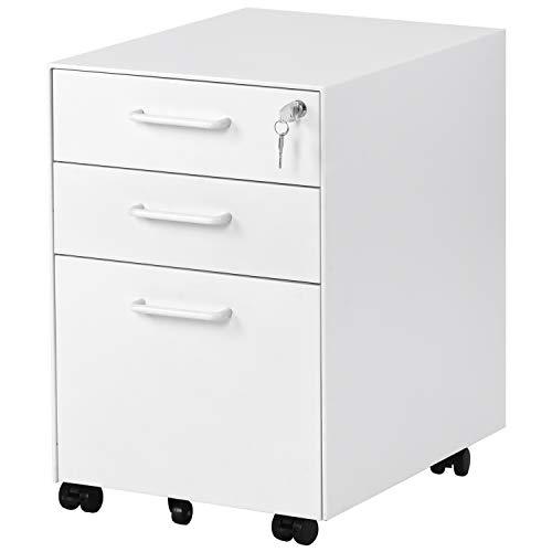 Merax Rollcontainer tragbare Stahl Rollcontainer,mobiler Aktenschrank, abschlie?bar, mit 5 Schubladen, vormontiert, f¨¹r Hause & B¨¹ro