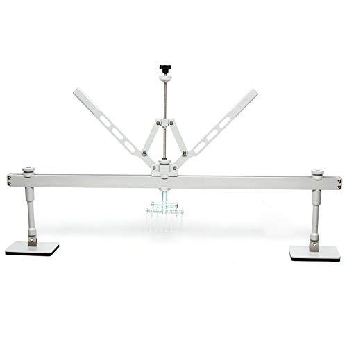 Aohuada 110 cm puente de arrastre, accesorios 8 ganchos de garra, herramienta para desabollar carrocería de aluminio para accesorios de spotter