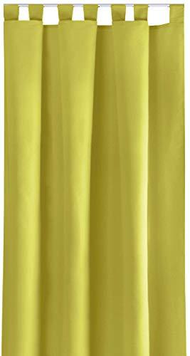 Bestlivings Ellen, decoratief gordijn, universele band, lussen, schuifgordijn Schlaufen 140x225 cm groen