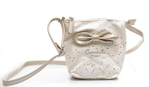 Camomilla bolso mujer mini shoulder bag pinkly metal crema Talla única