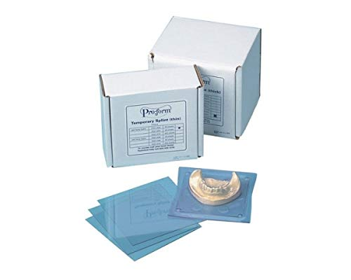 KEYSTONE - Splint Material - .080in (2mm) - 25pk - 5in x 5in Sheets- (K# 9614980) (5X5in) [ - Stiff Clear Material - Acrylic Sticks to Material - for Hard splints- surgic 103926 Us Dental Depot
