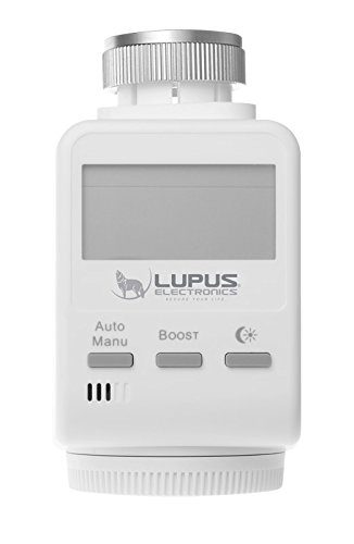 LUPUS Heizkörperthermostat für die XT Smarthome Alarmanlagen (Funk Heizungssteuerung, Smarthome Thermostat), JETZT: verbessertes Modell 2018