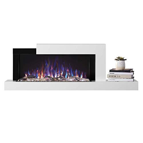 Napoleon Premium Fire - Stylus™ Serie - Elektrokamin, Kamin elektrisch, elektrischer Wandkamin, kaminofen Elektro, kaminfeuer elektrisch, Heizung, 3D LED Flamme & inkl. Fernbedienung - schwarz