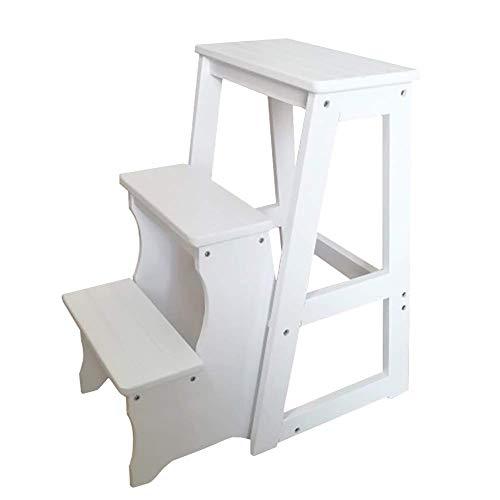 DGDG Folding 3 for Hoch-Bett, Schlafsaal & Küche - Holz Erwachsene Stufenleiter/tragbare Schuhbank / 3-Tier Pflanzenbestand (Color : Style3, Size : High 64cm/22 in)