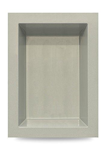 B&M Polypool GFK Teichbecken | Gartenteich | 660 Liter | 180x130x52 cm | von M+W Gartenflair (Grau)