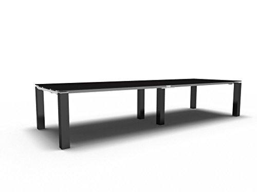 Bralco Konferenztisch mit Glasplatte Jet EVO groß, Besprechungstisch, Meetingtisch in verschiedenen Dekoren, Konferenzmöbel
