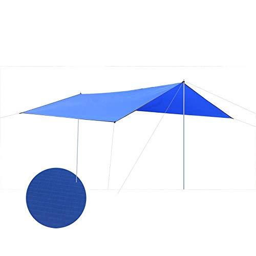 Sunshade Tienda de campaña ultraligera para 3 personas, ideal para acampar, playa, tienda de campaña, parasol fácil de transportar, hiking, Azul / Patchwork, 5-8 people