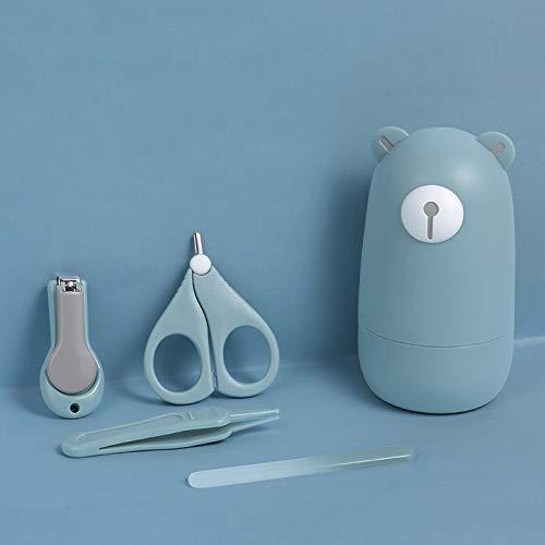 Kit de manicura para bebés 4 en 1, Bebé Cortauñas Conjunto, Cuidado Manicura Infantiles Recién Nacidos, Juego de pedicura para Niños