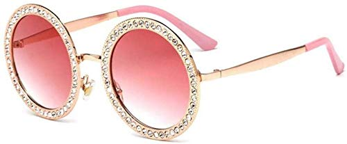 NIUASH Occhiali da Sole polarizzati Occhiali da Sole da Donna Accessori per Occhiali Moda Diamond Cat Eye Round Metal Frame Occhiali retrò-C4