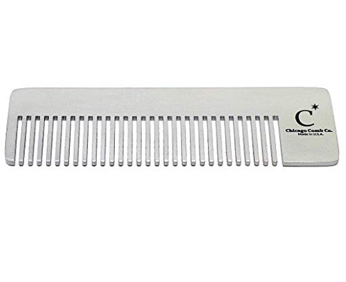 受ける軽食連隊Chicago Comb Model 4 Standard, Made in USA, Stainless Steel, Ultimate Pocket Comb, Beard & Mustache, Medium-Fine Tines, Anti-Static, Ultra-Smooth, Strong, Durable, 4 in. (10 cm) Long [並行輸入品]