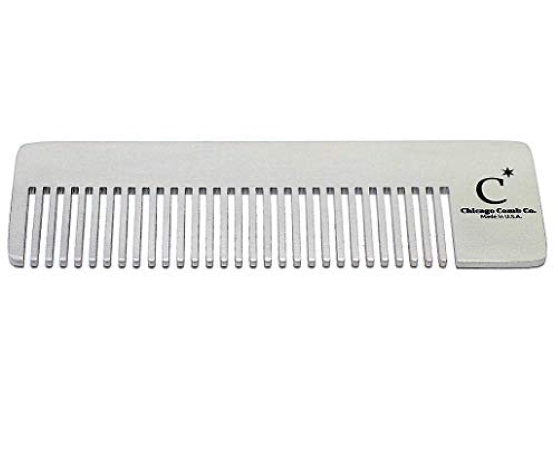 手を差し伸べる初期コントラストChicago Comb Model 4 Standard, Made in USA, Stainless Steel, Ultimate Pocket Comb, Beard & Mustache, Medium-Fine Tines, Anti-Static, Ultra-Smooth, Strong, Durable, 4 in. (10 cm) Long [並行輸入品]