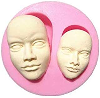 S.Han Silicone Human Face Fondant Mould Chocolate Mold Cake Decorating Tool Clay Art Craft